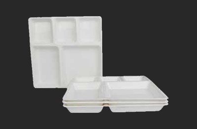 Partition Plate 5 Big & Partition Plate - Square Partition Plate and Plastic Compartment Tray