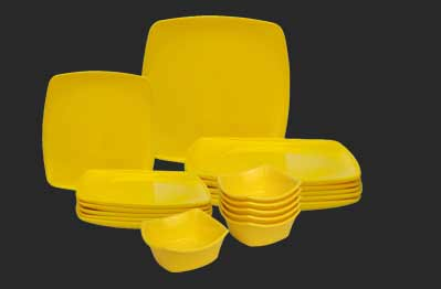 Dinner Set Yellow